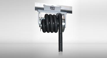 Exhaust hose reel
