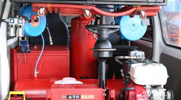 Tyre service van