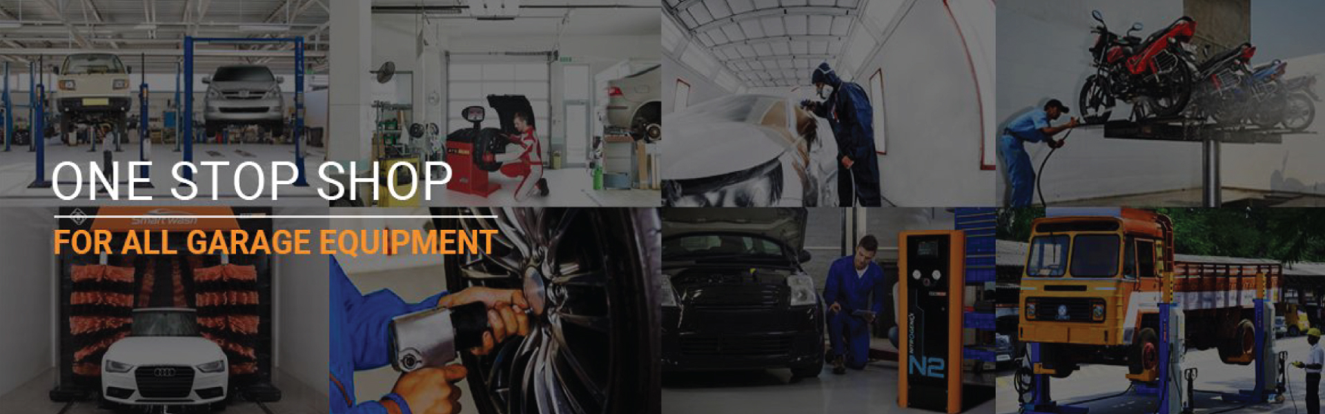Product units and details of garage equipment