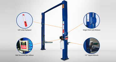 Two post hydraulic multi utility lift